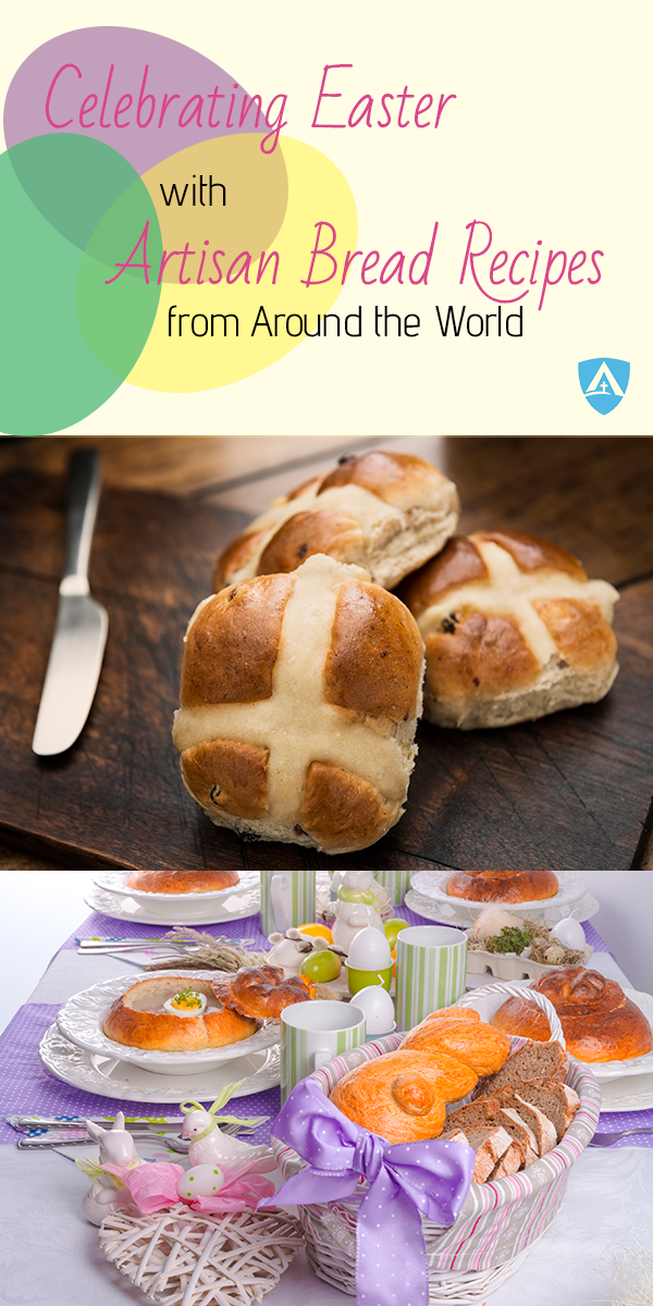 celebrating Easter with artisan bread recipes from around the world pin